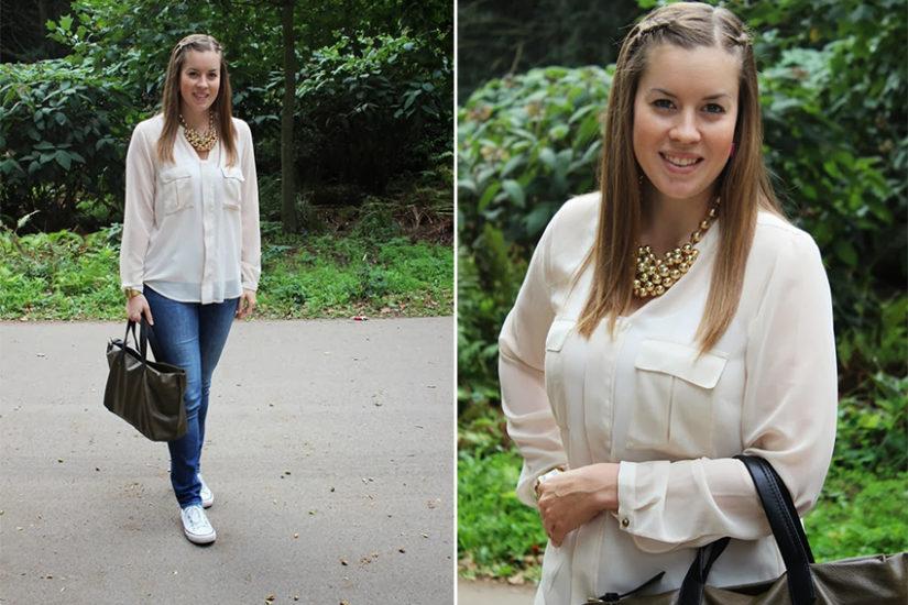 rosa Bluse Statement Kette LA MODE ET MOI Modeblog