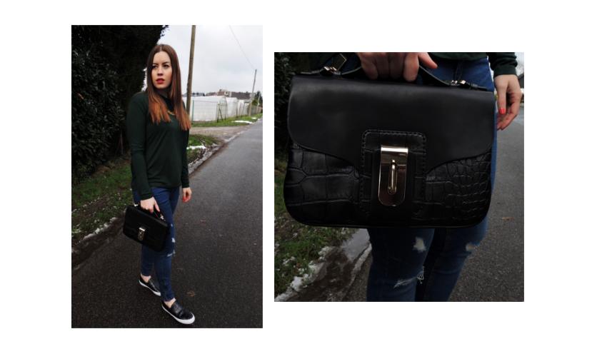 Dunkelgrüner Longsleeve - LA MODE ET MOI, der Modeblog