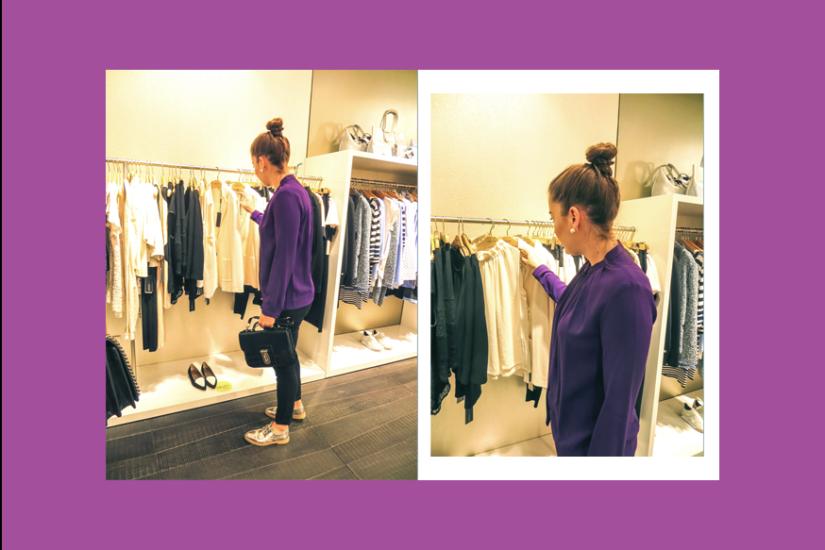 lila, hochgeschlossene Bluse - LA MODE ET MOI, der Modeblog