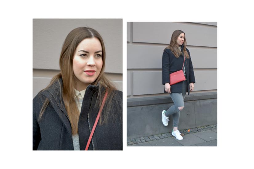 Schwarzer Kurzmantel und Rimmel-Lippenstift - LA MODE ET MOI, der Modeblog
