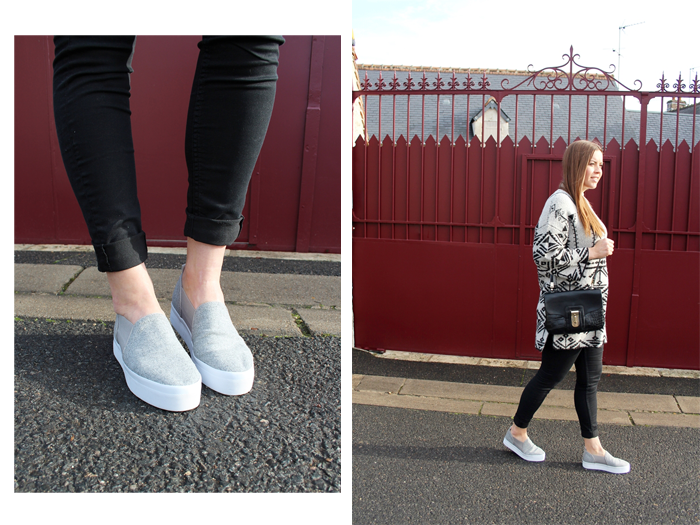 Printed knit and grey espadrilles for winter - La Mode et Moi, der Modeblog aus Köln
