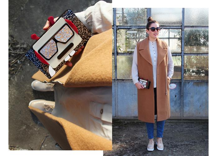 Karl Lagerfeld Minaudiere Roboter and Camel Vest - auf dem Modeblog La Mode et Moi