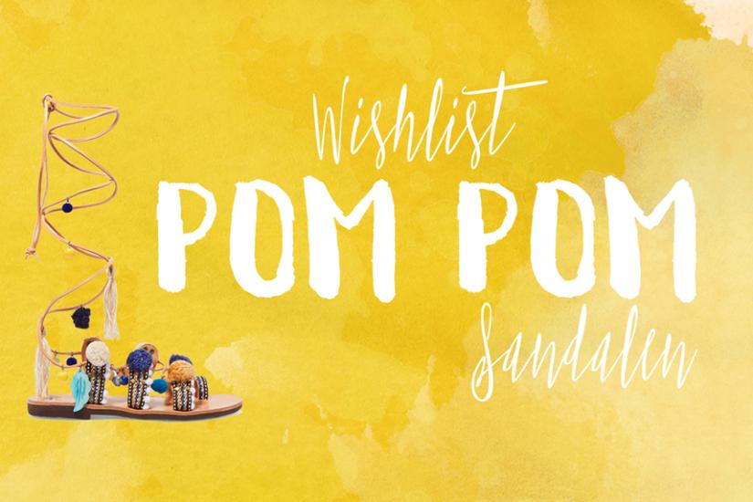 Wishlist: Fünf traumhafte Pom Pom Sandalen - La Mode et Moi, der Modeblog aus Köln