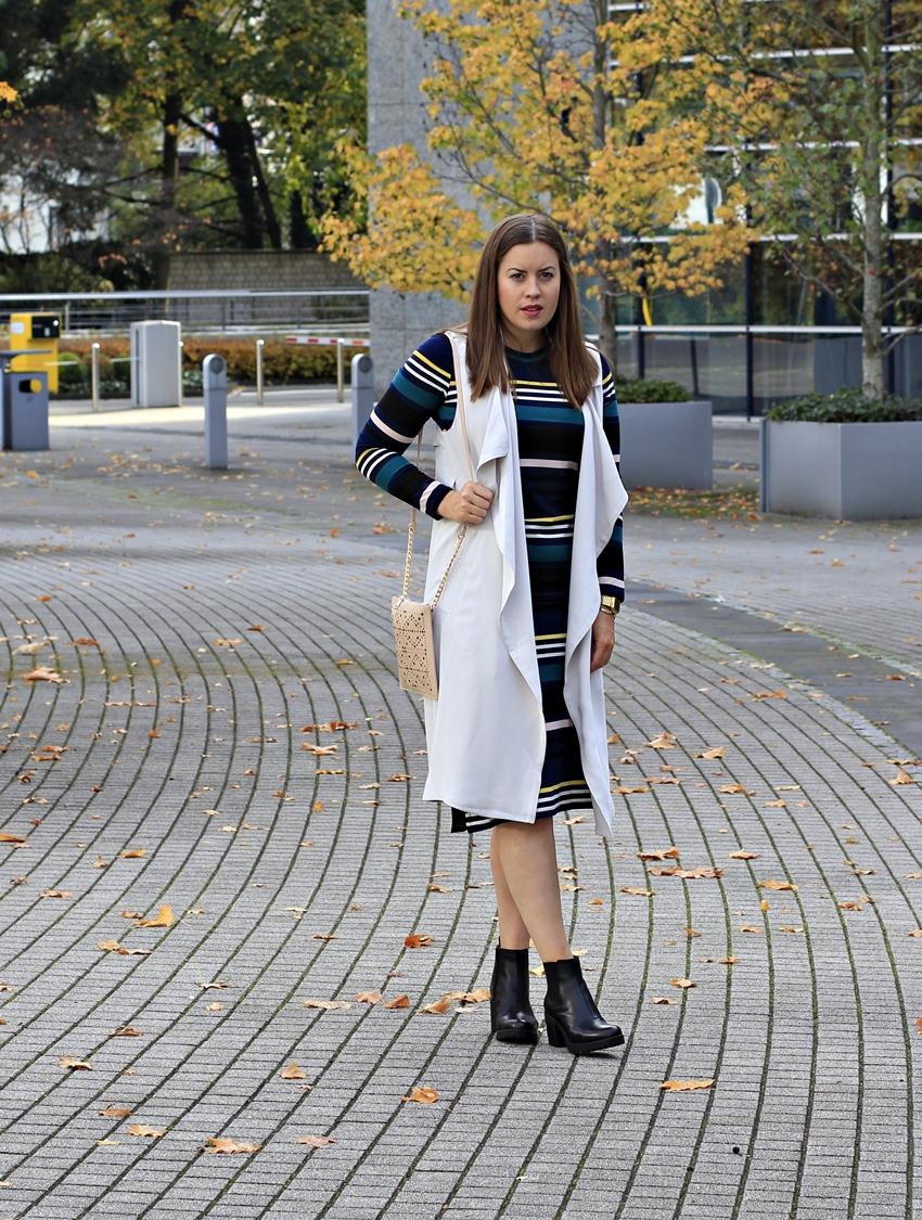 Geripptes Midi-Kleid im angesagten Streifen-Look - La Mode et Moi, der Modeblog aus Köln