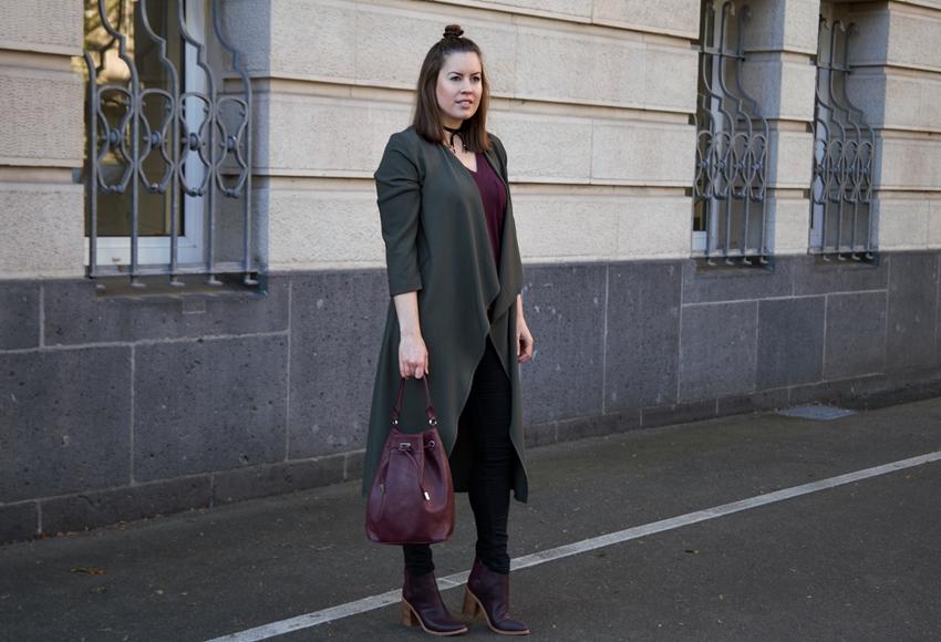 Sol Sana Stiefeletten mit khaki Longcardigan - LA MODE ET MOI, der Modeblog aus Köln
