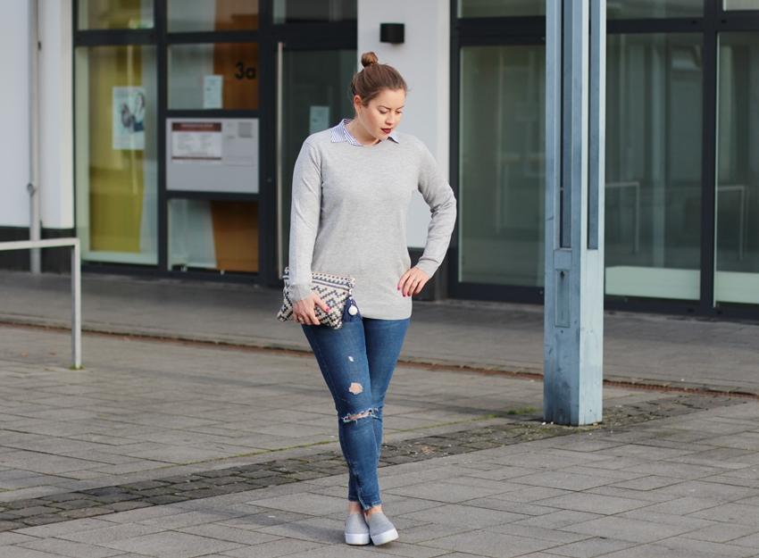 Easy Shopping-Look mit dunklen Lippen – LA MODE ET MOI, der Blog aus Köln