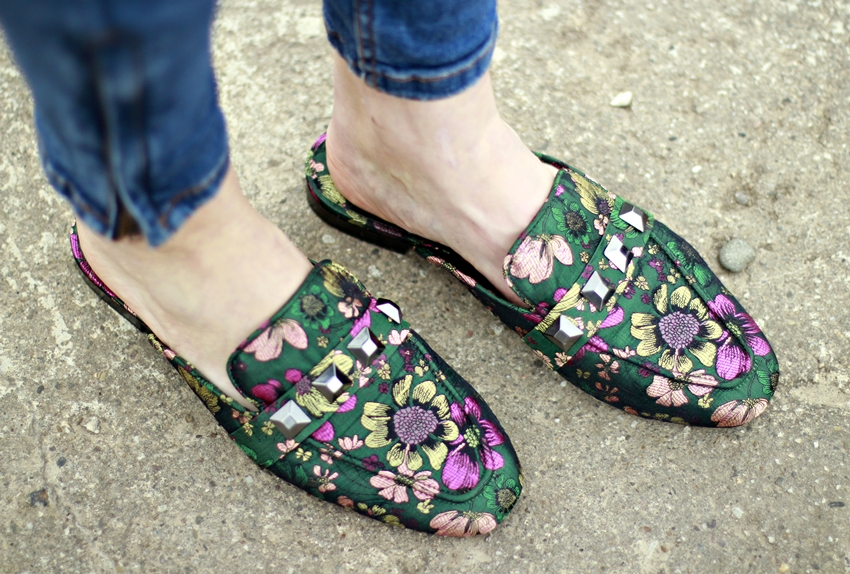 bestickte Slipper, Slipper Trend, embroided Slipper, COS Pullover, Blog Köln, Blogger Deutschland, Fashionblogger, Slipper Frauen, Slipper mit Nieten