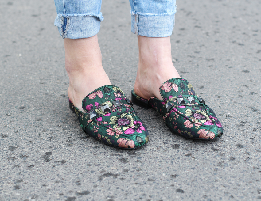 Slipper, Schuh-Trend, Sommer Schuhtrend, Shoe Trend, Slipper Trend, Modeblog, gesteppte Tasche, ripped Jeans, Topshop Jeans, Long-Cardigan