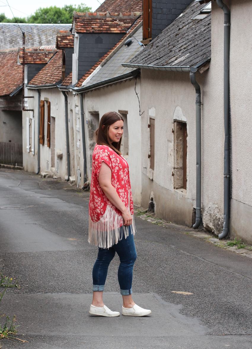 Kurzer Kimono mit Fransen - LA MODE ET MOI, der Modeblog