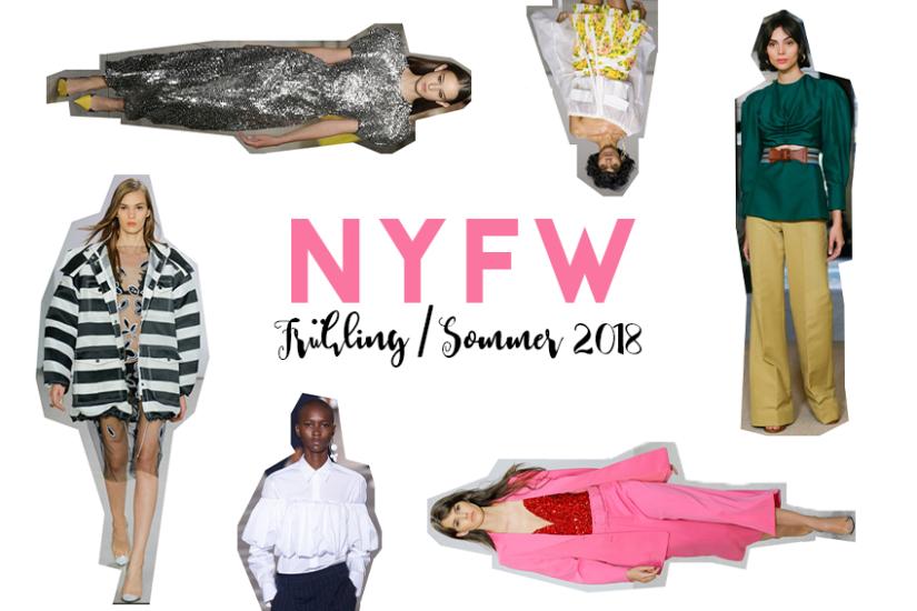 New York Fashion Week Trends, Trends aus New York, Trends New York Fashion Week, Trend Frühling 2018, Trend Sommer 2018, Metallic Glam, Oversize Jacke, NYFW