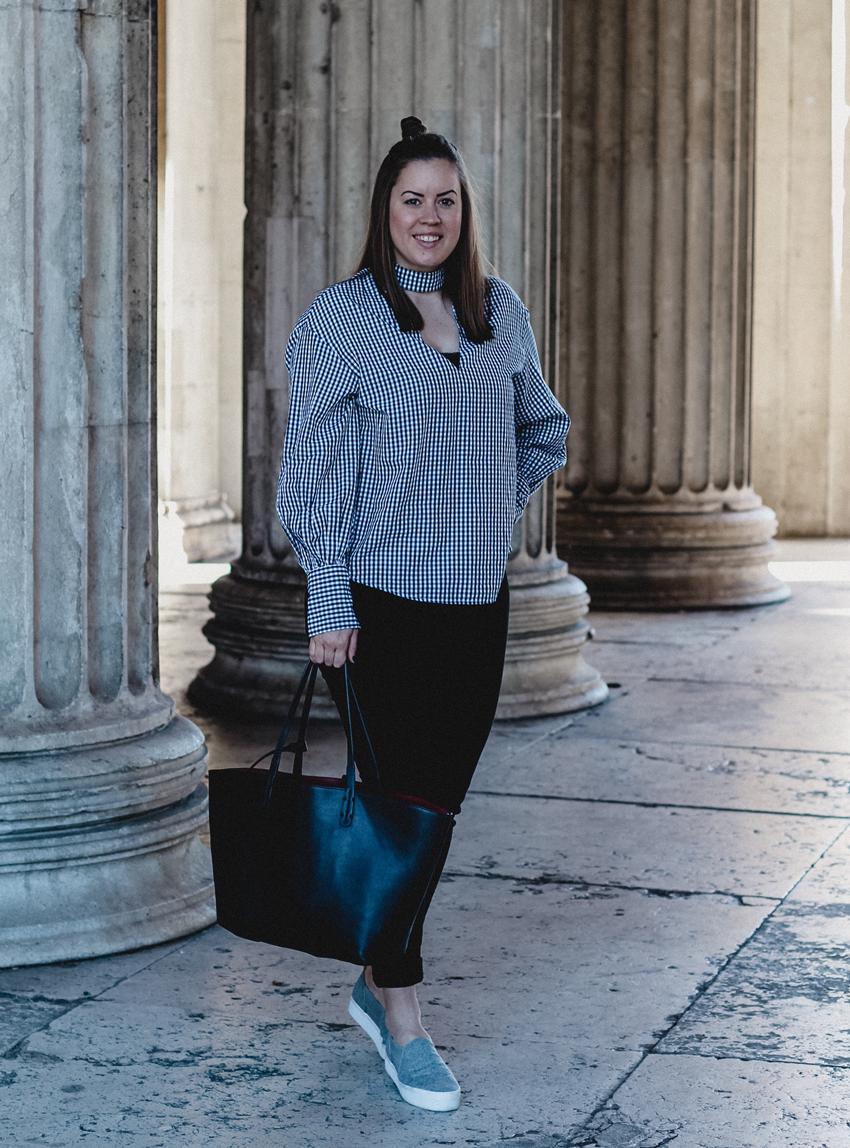 Gingham Bluse mit Ballon-Ärmeln - LA MODE ET MOI, der Modeblog