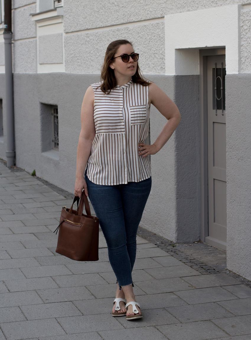 Gestreifte Bluse - Mein 1. Sommerlook - LA MODE ET MOI, der Modeblog