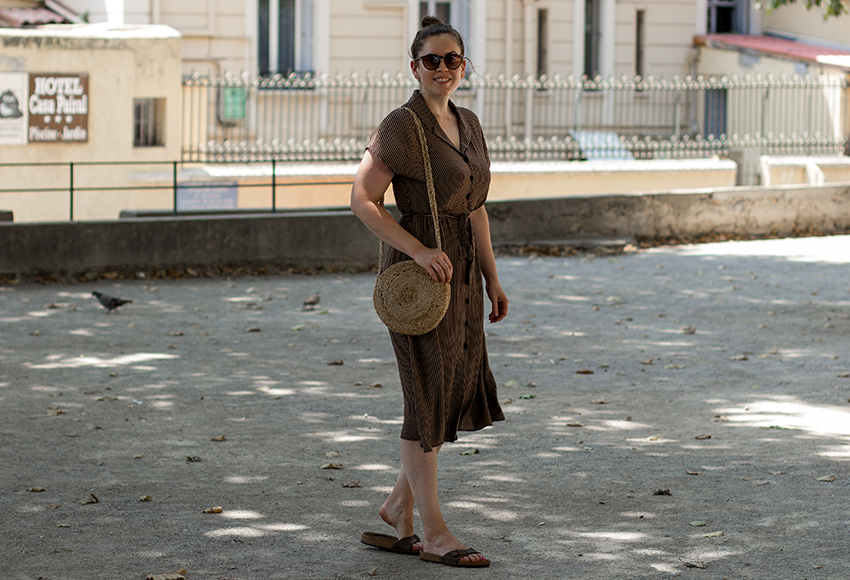 Halblanges Streifenkleid - LA MODE ET MOI, der Modeblog