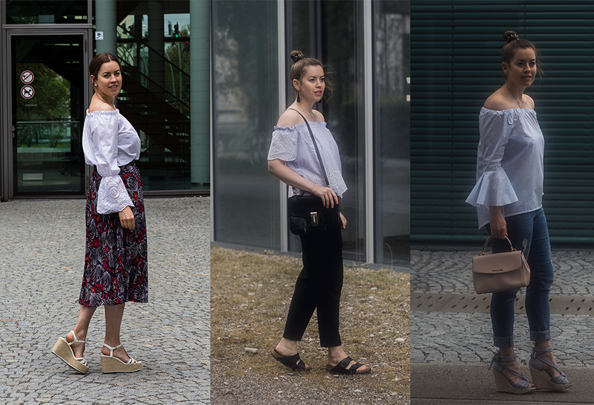 Die Off Shoulder Bluse: 3 Looks - LA MODE ET MOI, der Modeblog