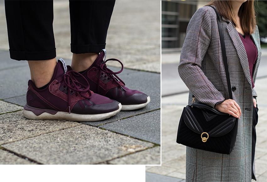 Herbst Uniform: Langer karierter Mantel - LA MODE ET MOI, der Modeblog