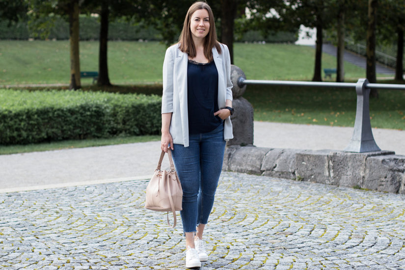Oversize Blazer und Plateau Sneaker - LA MODE ET MOI, der Modeblog