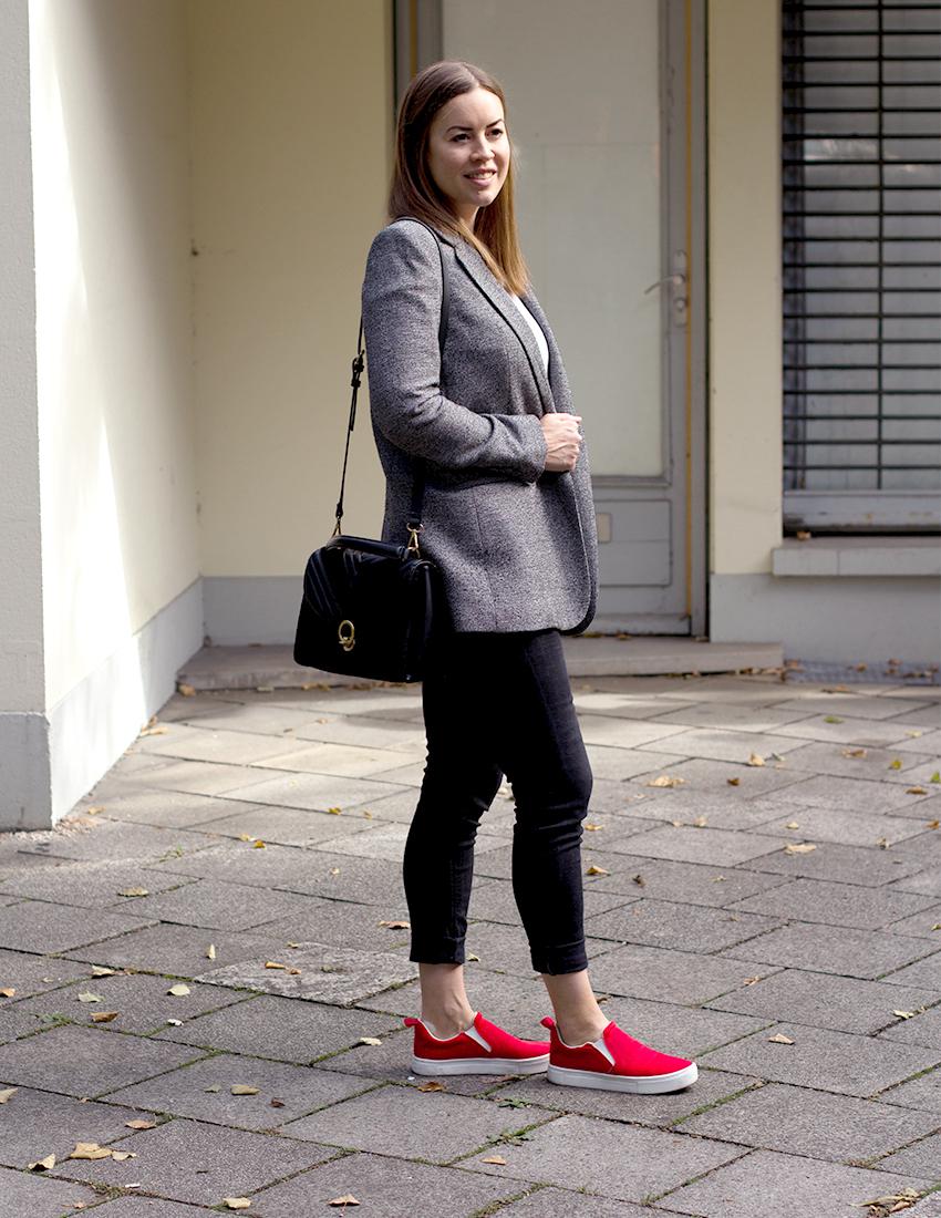 Grauer karierter Blazer - LA MODE ET MOI, der Modeblog