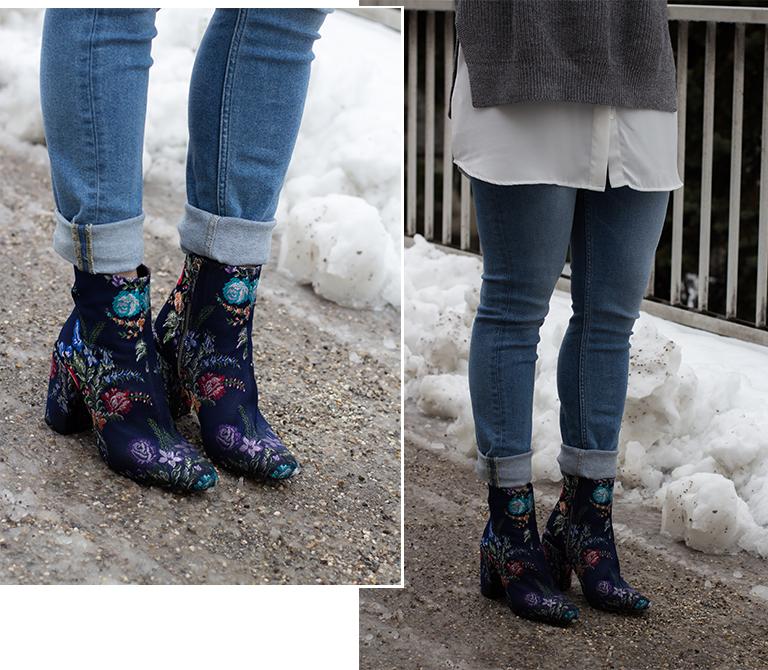 Grauer Strick-Pullover - LA MODE ET MOI, der Modeblog