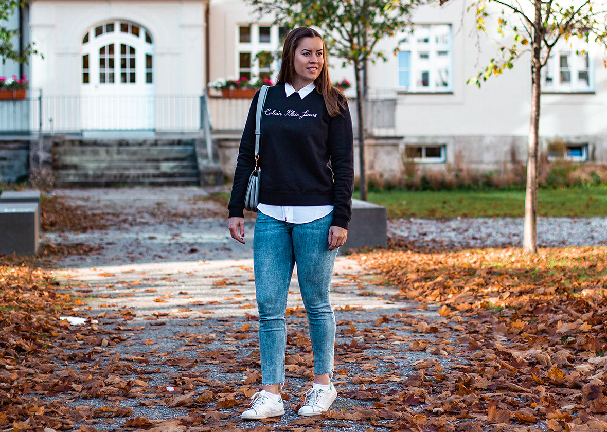 Logo Sweater: Mein Pullover Style - THE BUTTON by Emilie, der Modeblog