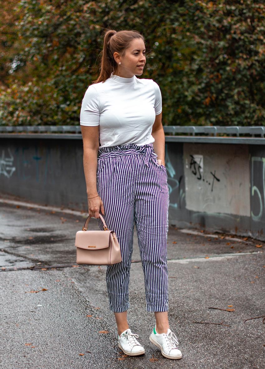 Spätsommer Outfit mit Paperbag-Hose - LA MODE ET MOI, der Modeblog