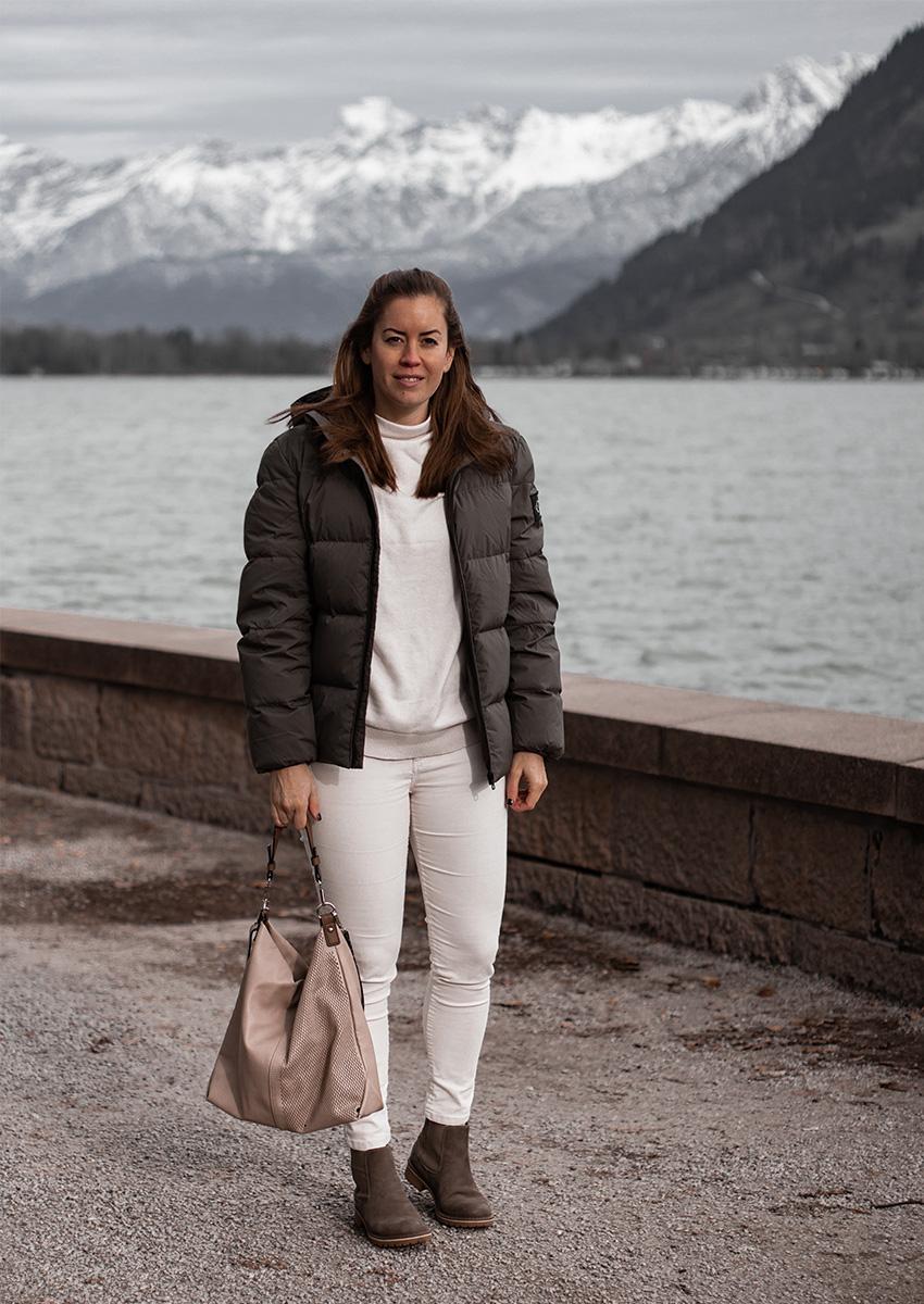 Khaki Steppjacke für den Winter - LA MODE ET MOI, der Modeblog