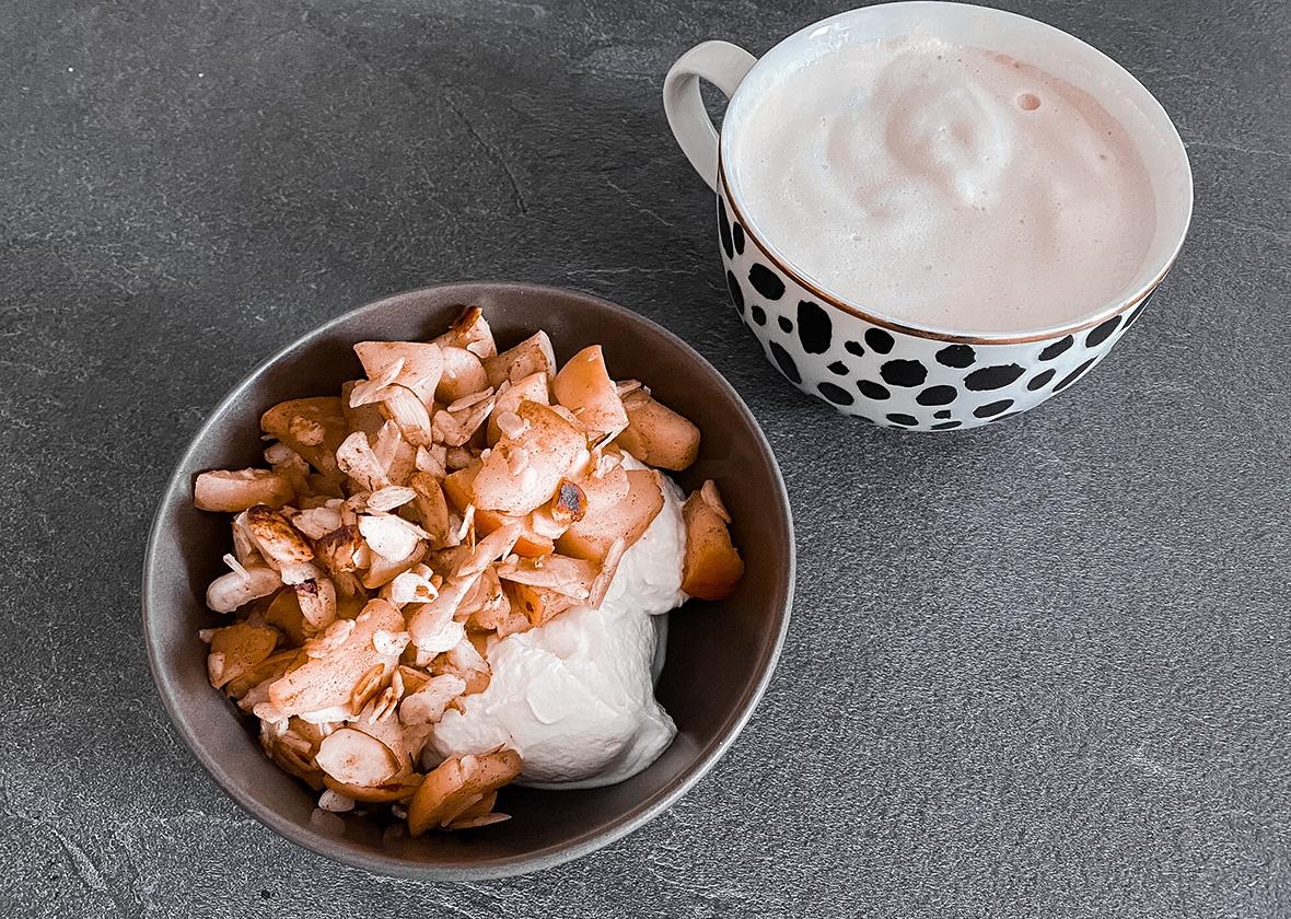 10 Minuten Bratapfel-Frühstück - THE BUTTON by Emilie