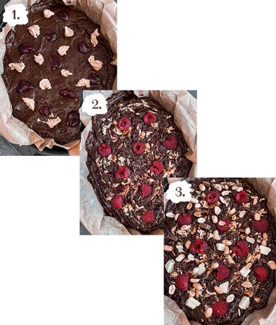 Glutenfreie Erdnussbutter Brownies mit Himbeeren - LA MODE ET MOI, der Zöliakieblog
