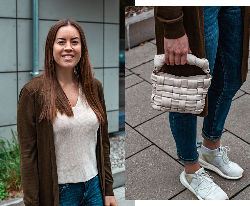 Everyday Look mit Mini Handtasche - THE BUTTON by Emilie