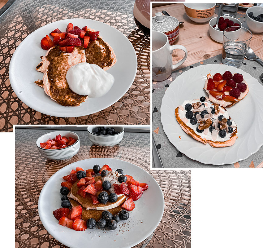 Glutenfreie Protein Pancakes - THE BUTTON by Emilie